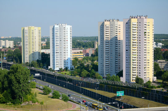 Residential skyscrapers in Katowice (Poland)