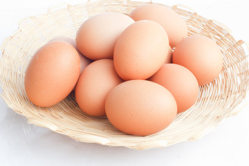 eggs on white background.