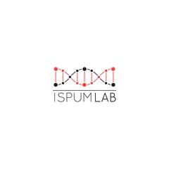 DNA. liner style illustration.