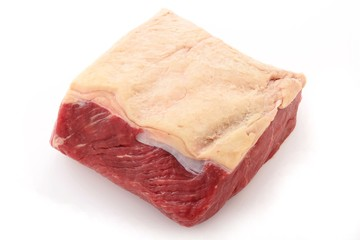 whole steak isolated