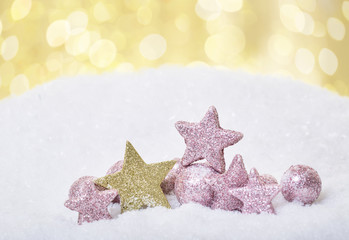 weihnachten gold und rosa