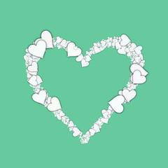 Love heart Valentine shape