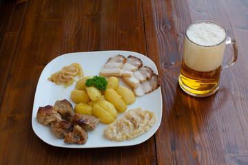 Pork Annex with beer.