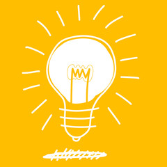 bulb drawing doodle sketch art