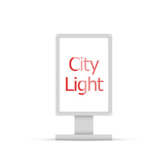 City light vector. City light template on white background.