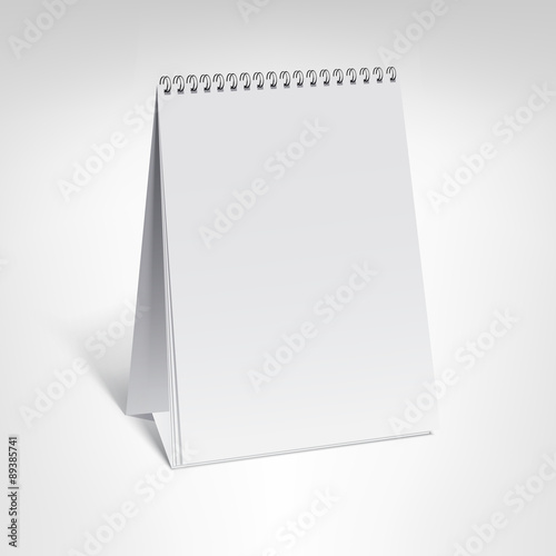 Spiral Calendar Vector Template Small Vertical Table Calendar With