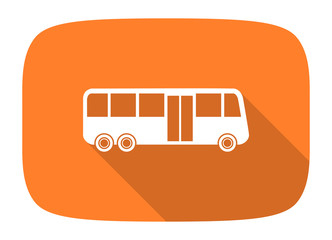 bus flat design modern icon