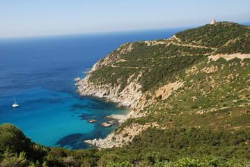 Italia Sardegna Cala Regina Italien Sardinien Küste Leuchtturm