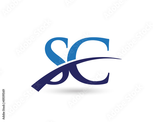 Sc Logo Letter Swoosh Stock Image And Royalty Free Vector