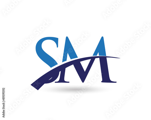 """SM Logo Letter Swoosh"""" Stock image and royalty-free vector files on ..."""