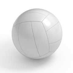 Blank volleyball ball isolated with clipping path