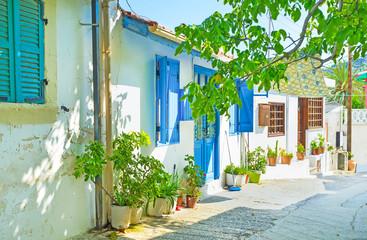 Fotobehang Cyprus The shady street