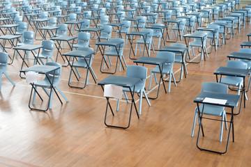 Rows of Empty Desks