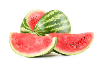 Tasty watermelon isolated on a white