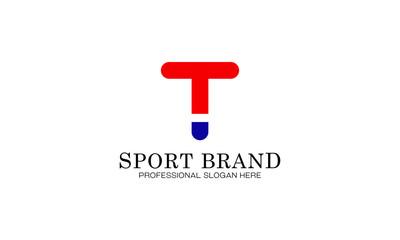 sport brand T logo vector