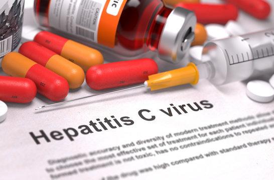 Diagnosis - Hepatitis C Virus. Medical Concept. 3D Render.