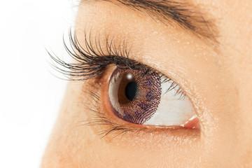 カラーコンタクトとエクステcolored contact and eyelashes