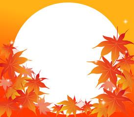 もみじ、紅葉、かえで、楓、秋、円形、日本、イベント、案内、