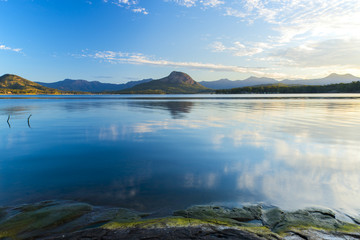 Lake Moogerah on the Scenic Rim in Queensland in the early morning