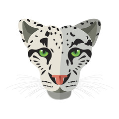 Wild cat, irbis, leopard, snow bars