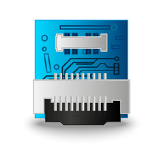 Chip computer processor