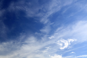 Blue sky with cloud in city of Chiang Mai, Thailand