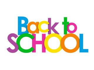 BACK TO SCHOOL Multicoloured Vector Letters Icon