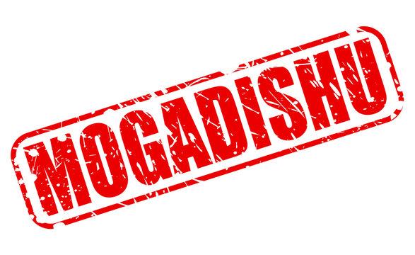 MOGADISHU red stamp text on white