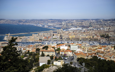 View over Marseille from Notre Dame