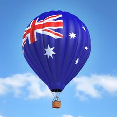 Hot air balloon with Australian flag