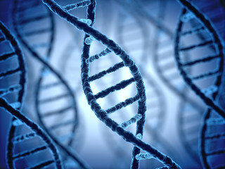 DNA structure 3d background