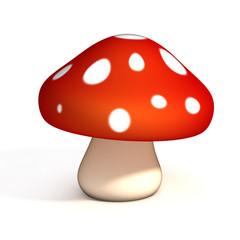 mushroom 3d illustration