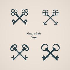 Vector Illustration of Cross of the keys.