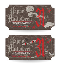 Vintage ticket to Halloween party