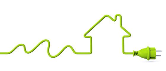 Green power plug - water energy - house