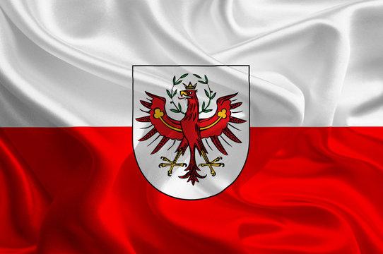 Austrian State Flags: Waving Fabric Flag of Tirol