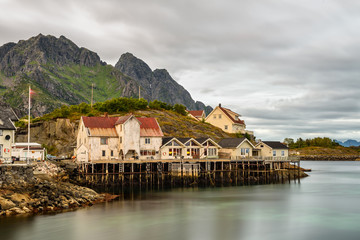 Wall Mural - Henningsvaer,  fishing village in the Lofoten archipelago, Norwa