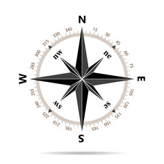 Compass icon in flat design