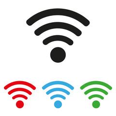 wifi icon set colored