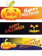 pumpkin and halloween banner