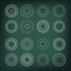 Set of flower shapes. 16 elements for your design and