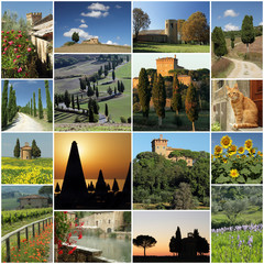 series of images of wonderful Tuscany, Italy
