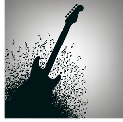 Guitar Music Concert Poster Layout Template  for print or web