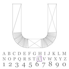 Vector low poly numbers font. Polygon number alphabet. Vector