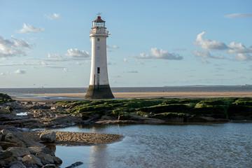 Perch Rock Lighthouse, New Brighton, Merseyside, Liverpool, England.