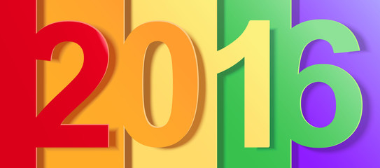Creative colorful 2016 Background image