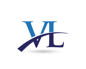 VL Letter Logo Swoosh