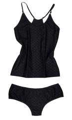 Black underwear isolated on white