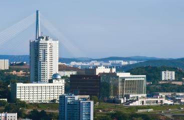 View of part of Vladivostok. Russia. 13.06.2015