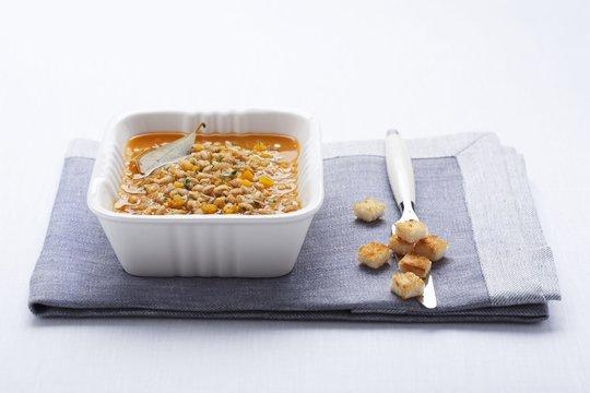 Zuppa di farro (Italian spelt stew)